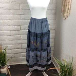 🌹Vintage Hand-painted Staley Gretzinger skirt🌹